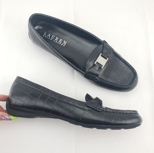 RALPH LAUREN Alligator Embossed Driving Loafer